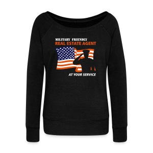 Military Friendly Wide Sweat - Women's Wideneck Sweatshirt