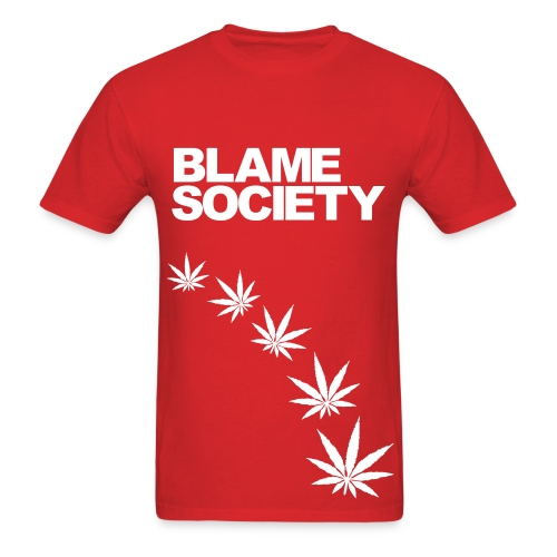 Blame Society  - Men's T-Shirt