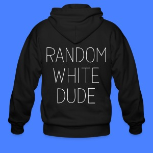 Random White Dude Zip Hoodies & Jackets - Men's Zip Hoodie