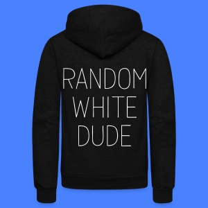 Random White Dude Zip Hoodies & Jackets - Unisex Fleece Zip Hoodie by American Apparel