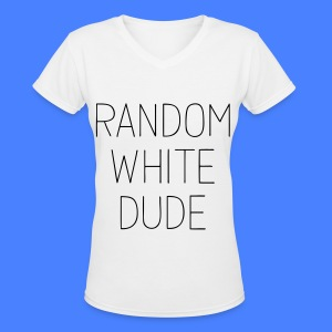 Random White Dude Women's T-Shirts - Women's V-Neck T-Shirt