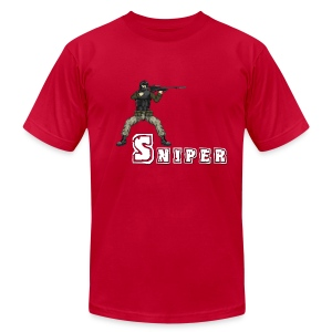 BFFs - Sniper - Men's T-Shirt by American Apparel