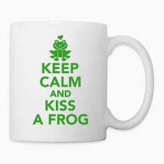 Keep calm and Kiss frog Bottles & Mugs