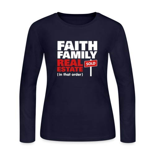 Faith Family RE Jersey - Women's Long Sleeve Jersey T-Shirt