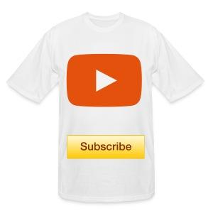 YouTube Subscribe T-Shirt  - Men's Tall T-Shirt