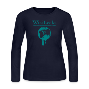 WikiLeaks Dripping Globe - Women's Long Sleeve Jersey T-Shirt