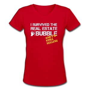 Survived the Bubble V-Neck - Women's V-Neck T-Shirt