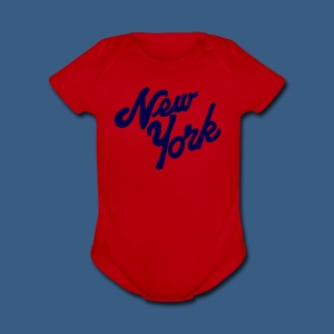 New York Baby Short Sleeve One Sleeve - Short Sleeve Baby Bodysuit