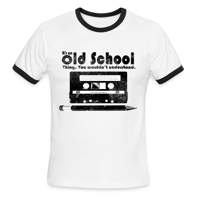 Old school thing cassette retro 80s t shirt spreadshirt for Old school basketball t shirts