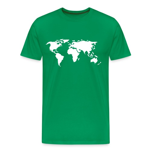 Men's World Map T-Shirt - Men's Premium T-Shirt