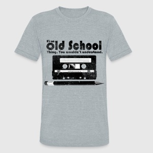 Old School Thing Cassette Retro 80s T-Shirts - Unisex Tri-Blend T-Shirt by American Apparel