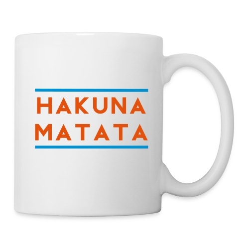Hakuna Matata Mug (blue/orange) - Coffee/Tea Mug