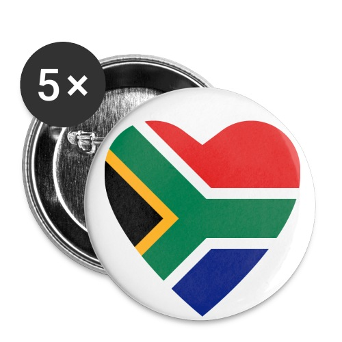 South African Heart Buttons (5 pack) - Small Buttons