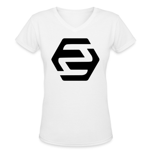 2F | White Women T-Shirt - Women's V-Neck T-Shirt