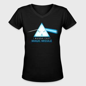 Dungeons & Dragons Pink Floyd d4 Magic Missile - Women's V-Neck T-Shirt