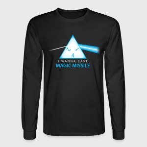 Dungeons & Dragons Pink Floyd d4 Magic Missile - Men's Long Sleeve T-Shirt