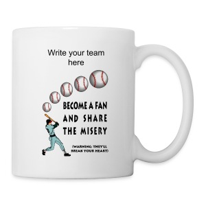 Baseball Fan Ceramic Mug - Coffee/Tea Mug