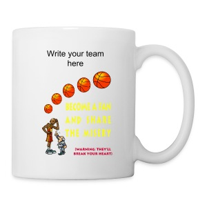Basketball Fan Ceramic Coffee And Tea Mug - Coffee/Tea Mug