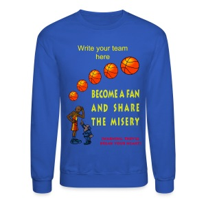 Basketball Fan Crewneck Sweatshirt For Men - Crewneck Sweatshirt