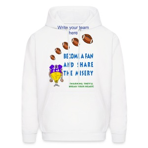Football Fan T-Hooded Sweatshirt For Men - Men's Hoodie