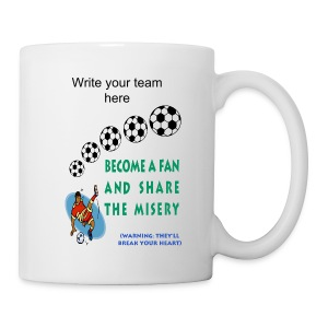 Soccer Fan Ceramic Tea Mug - Coffee/Tea Mug