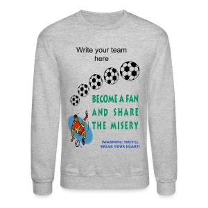 Soccer Fan Crewneck Sweatshirt For Men - Crewneck Sweatshirt
