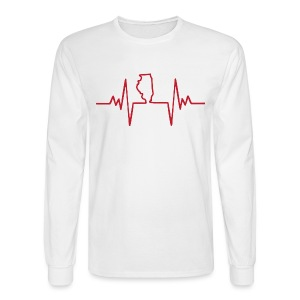 An Illinois Heartbeat - Men's Long Sleeve T-Shirt