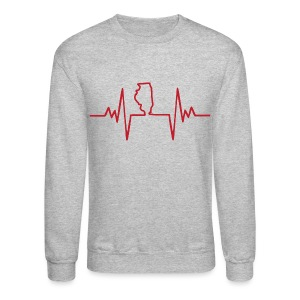 An Illinois Heartbeat - Crewneck Sweatshirt