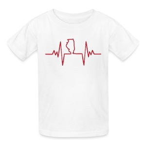An Illinois Heartbeat - Kids' T-Shirt