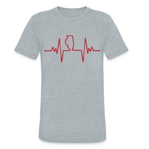An Illinois Heartbeat - Unisex Tri-Blend T-Shirt