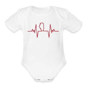 An Illinois Heartbeat - Short Sleeve Baby Bodysuit