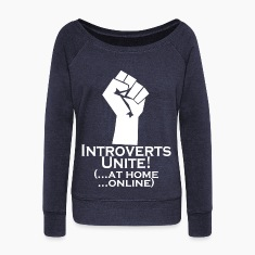 Introverts Unite At Home Long Sleeve Shirts