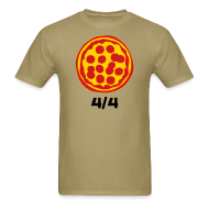 T-Shirts ~ Men's T-Shirt ~ 4/4 Rebanadas de Pizza