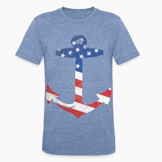 American Flag Anchor T-Shirts