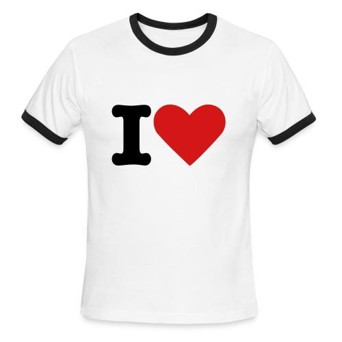 Love Heart - Men's Ringer T-Shirt