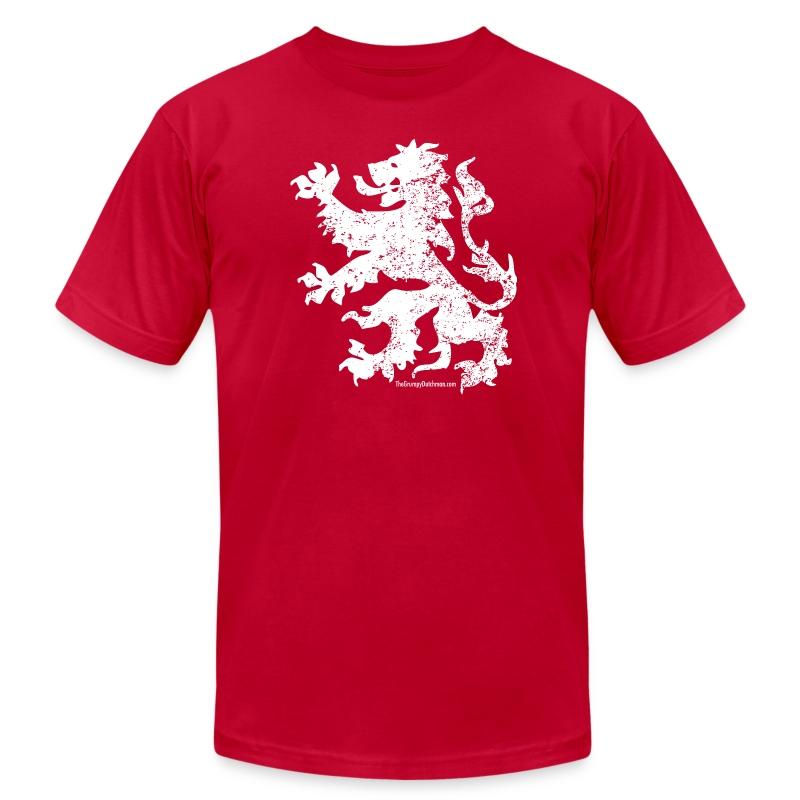 Dutch Lion (white) - Men's Fine Jersey T-Shirt