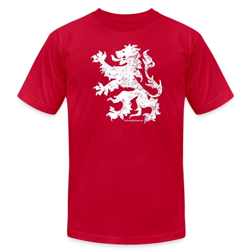 Dutch Lion (white) - Men's T-Shirt by American Apparel