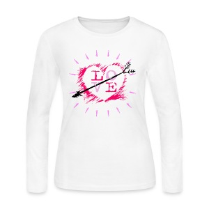 Valentine Love Long Sleeve Jersey T-Shirt For Women - Women's Long Sleeve Jersey T-Shirt