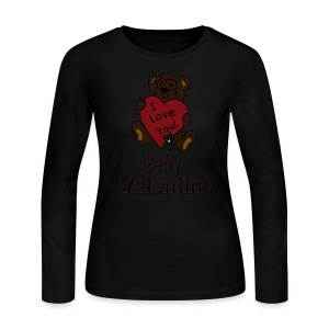 Be My Valentine Long Sleeve Jersey T-Shirt For Women - Women's Long Sleeve Jersey T-Shirt
