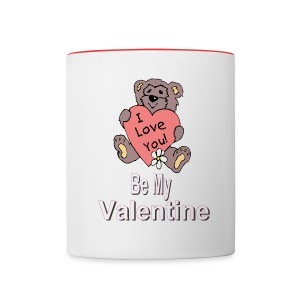 Be My Valentine Ceramic Coffee Mug - Contrast Coffee Mug