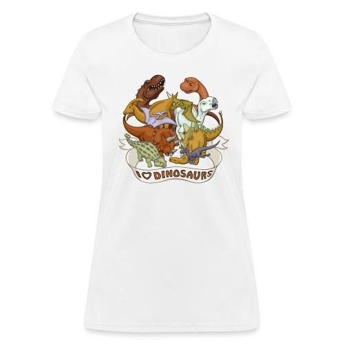 I Heart Dinosaurs - Women's T-Shirt