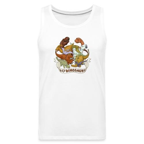 I Heart Dinosaurs - Men's Premium Tank