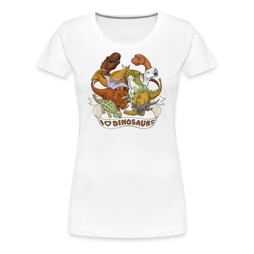 I Heart Dinosaurs - Women's Premium T-Shirt