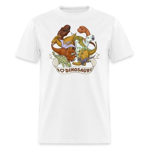 I Heart Dinosaurs - Men's T-Shirt