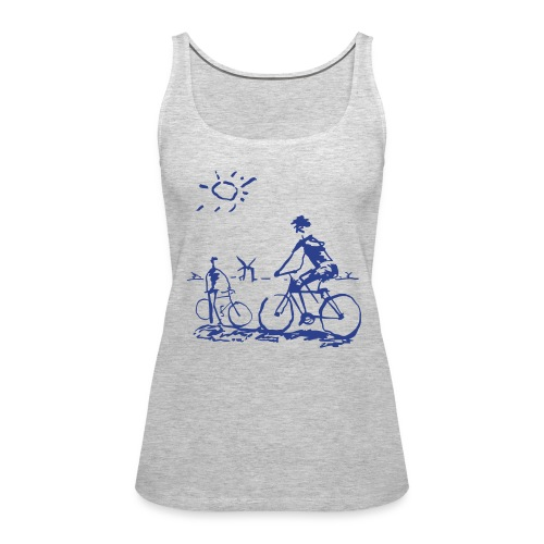 Picasso Bicycle - Bicycling Sketch - Women's Premium Tank Top