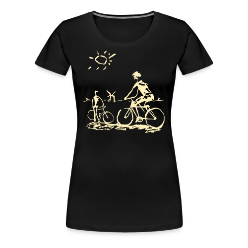 Picasso Bicycle - Bicycling Sketch - Women's Premium T-Shirt