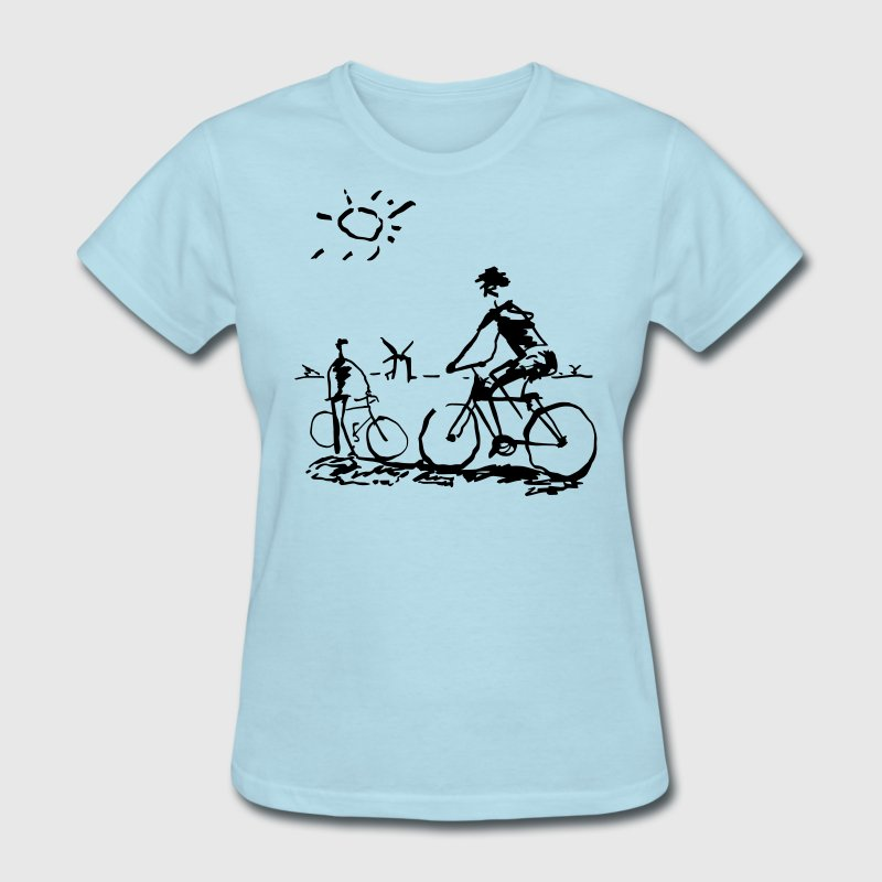 Picasso Bicycle - Bicycling Sketch - Women's T-Shirt