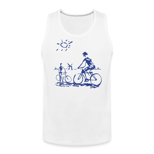 Picasso Bicycle - Bicycling Sketch - Men's Premium Tank