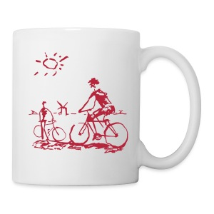 Picasso Bicycle - Bicycling Sketch - Coffee/Tea Mug
