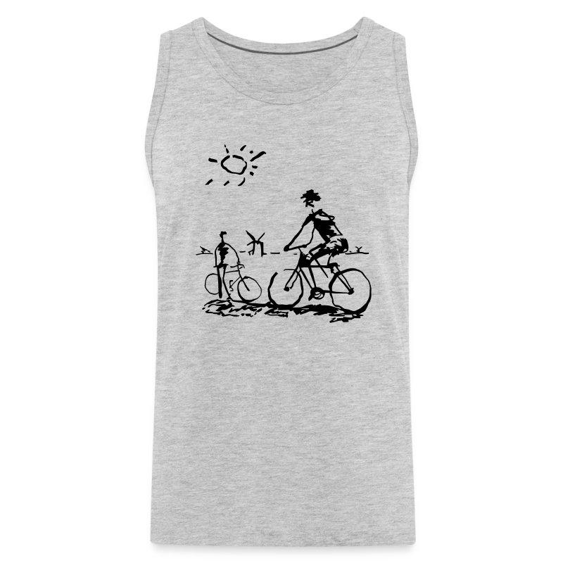 Picasso Bicycle - Bicycling Sketch - Men's Premium Tank